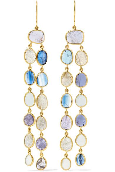 Pippa Small - 18-karat Gold Multi-stone Earrings
