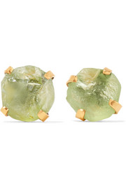 Pippa Small 14-karat gold peridot earrings