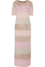 Raquel Allegra Tie-dyed stretch cotton-blend jersey maxi dress