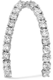 18-karat white gold diamond earring