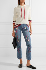 Sweet Jam embroidered high-rise straight-leg jeans