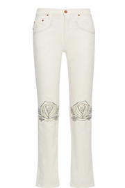 Song of the West embroidered straight-leg jeans