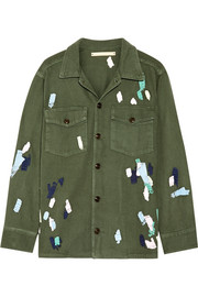 Bliss and Mischief Mitchell embroidered cotton-twill jacket