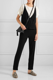 Vanessa Bruno Gib crepe and satin jumpsuit