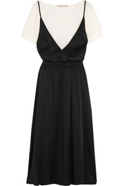 Vanessa Bruno Gala crepe and satin midi dress