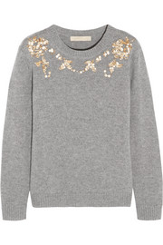 Vanessa Bruno Gosta sequin-embellished wool and cashmere-blend sweater