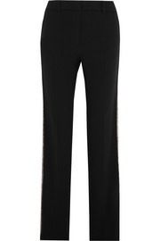 Girel sequin-embellished crepe straight-leg pants