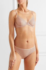 Skin stretch-lace underwired bra