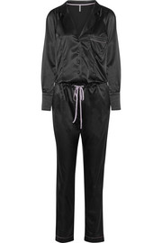 Sass stretch-satin jumpsuit