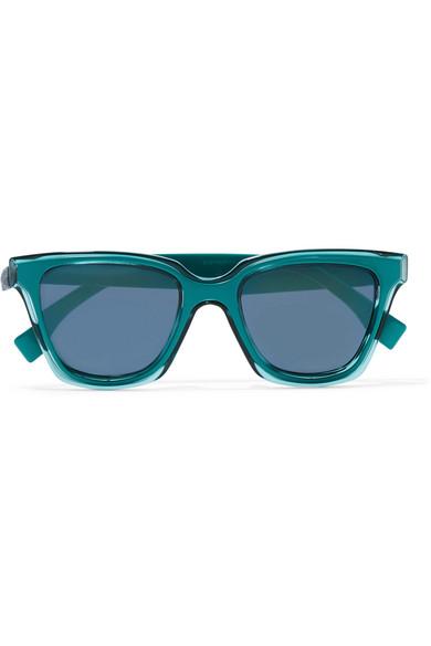 Fendi - Square-frame Acetate Sunglasses - Blue