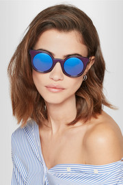 Fendi Cat-eye acetate mirrored sunglasses