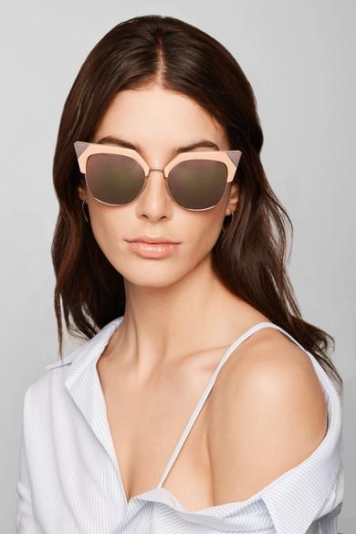 Cat Sunglasses Eye Gold Tone Iridia Rose Mirrored gbf7Y6y