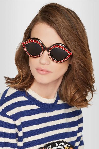 Embellished cat-eye sunglasses Gucci uriHrjs9