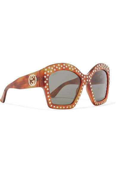 ea51cc735 Gucci | Studded square-frame acetate sunglasses | NET-A-PORTER.COM