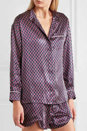Vita Zayna printed silk-satin pajama set