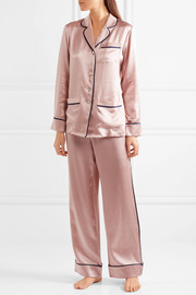 Coco silk-satin pajama set
