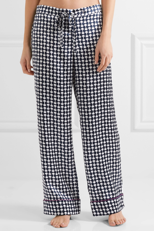 Olivia von Halle Lila Aziza printed silk-satin pajama set
