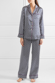 Lila Aziza printed silk-satin pajama set