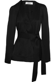 Chalayan Cape-effect belted twill jacket