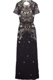Jenny Packham Cutout embellished tulle gown