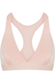 The Body perforated stretch-jersey soft-cup bra