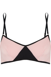 Elle Macpherson Body Vee two-tone stretch-jersey underwired bra