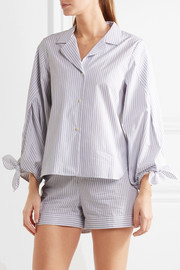 Bardeu and Clarence striped cotton pajama set