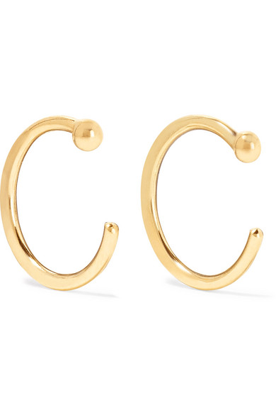Melissa Joy Manning - 14-karat Gold Hoop Earrings