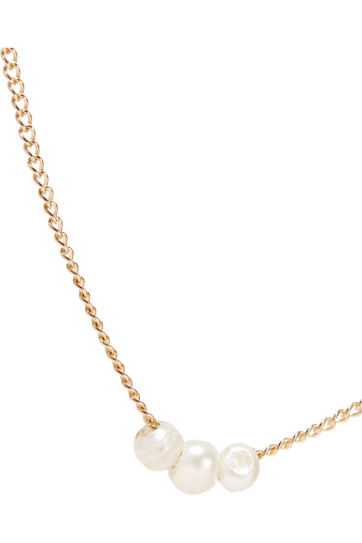 Melissa Joy Manning 14-karat gold pearl necklace