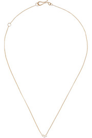 14-karat gold pearl necklace