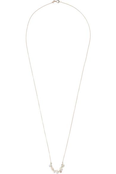 Melissa Joy Manning - 14-karat Gold Pearl Necklace
