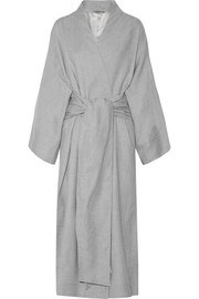 Isabella cotton and cashmere-blend robe