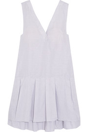 Rosaline pleated cotton and linen-blend nightdress
