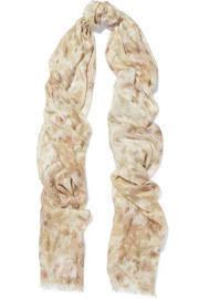 AERIN Printed modal and silk-blend scarf