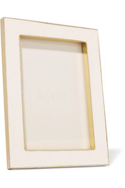 Faux shagreen and suede picture frame