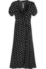 Miu Miu Printed silk crepe de chine midi dress