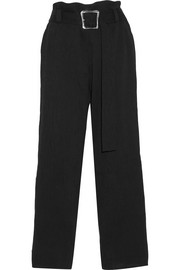 Ava pintucked crepe wide-leg pants