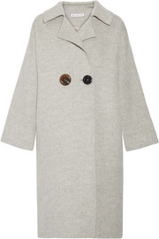 Kate color-block alpaca and wool-blend coat