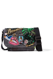 Marc Jacobs Paradise embellished cotton-canvas shoulder bag