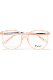 Chloé Myrte square-frame acetate optical glasses