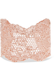 Aurélie Bidermann Lace rose gold-plated cuff