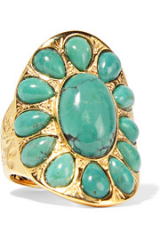 Aurélie Bidermann Gold-plated turquoise ring