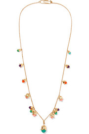 Aurélie Bidermann Lily Of The Valley gold-plated beaded necklace