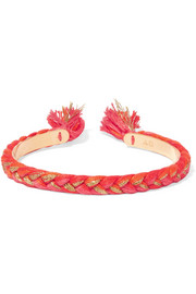 Copacabana gold-plated braided cotton cuff