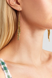Wheat gold-plated earrings