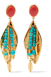 Aurélie Bidermann Monteroso gold-plated beaded clip earrings