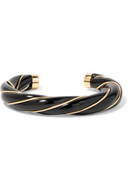 Aurélie Bidermann Diana gold-plated resin cuff