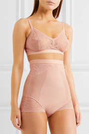 Spotlight stretch-tulle and lace soft-cup bra
