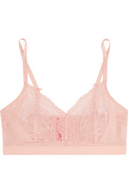 Spanx Spotlight stretch-tulle and lace soft-cup bra