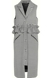 Corbett ruffled checked poplin gilet